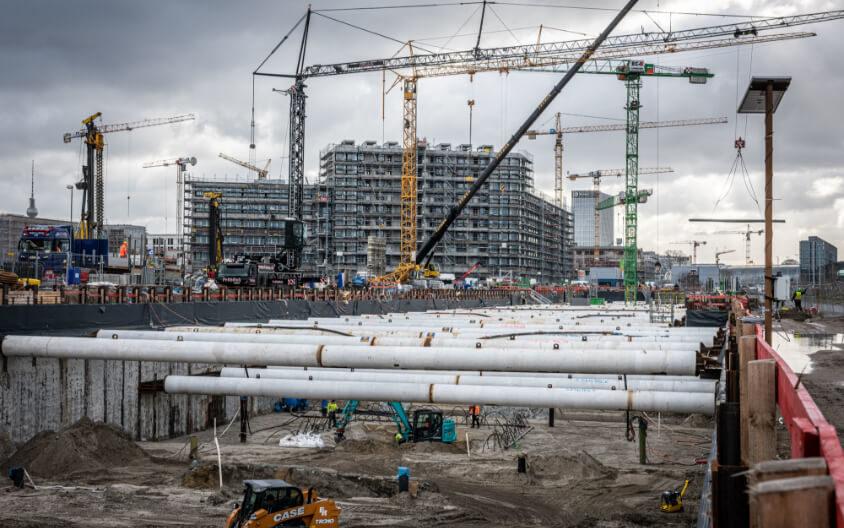 @ Christian Kruppa – Quartier Heidestrasse, QH Track building foundation pit